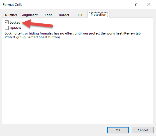 vba lock cells for worksheet protection