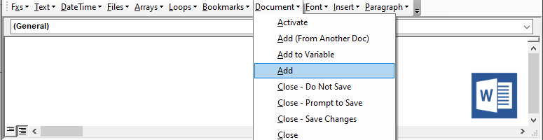 word vba code library