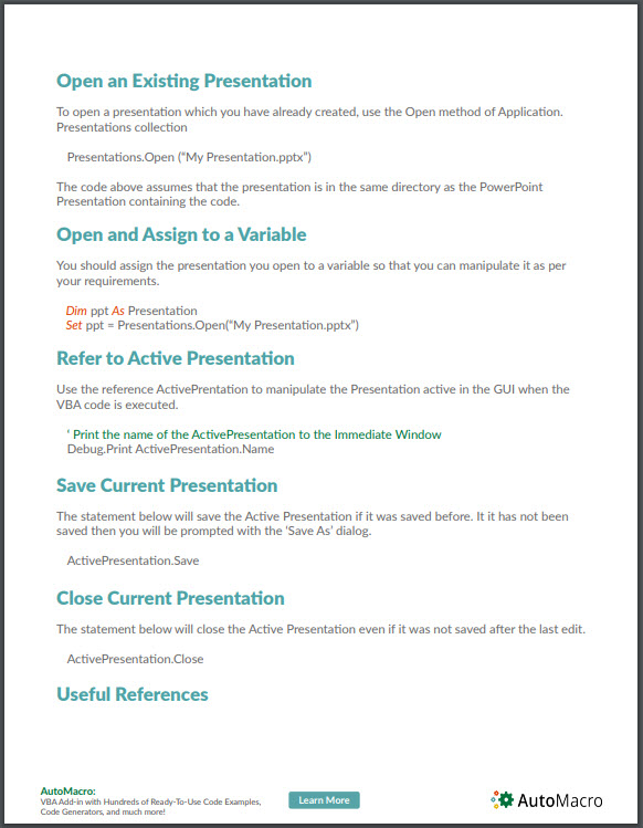 vba powerpoint tutorial pdf