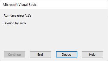 vba run-time error 11 err.number