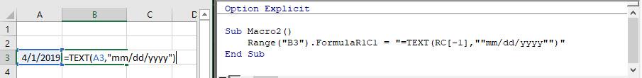 vba formula quotations