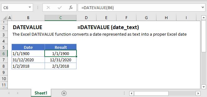DATEVALUE Main Function