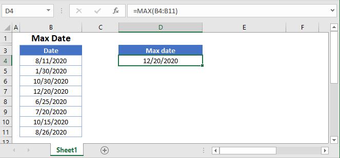 Max date Main