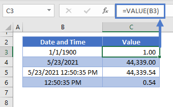 Value of Date and Time