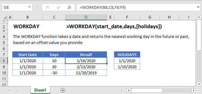 WORKDAY Main Function