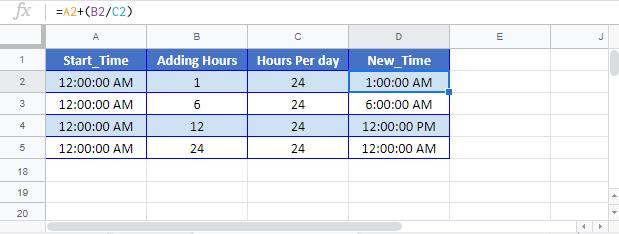 Add HRS Time Google