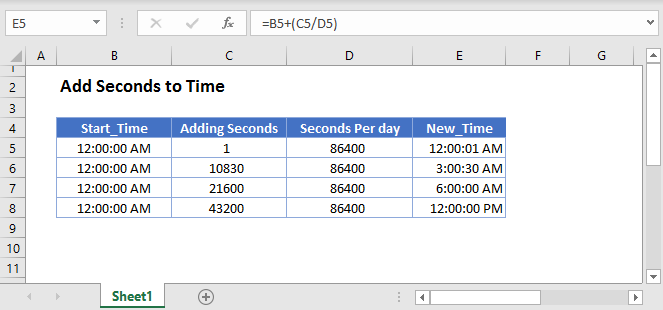 Add Seconds to Time Main