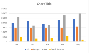 column chart template free download