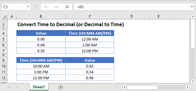 Convert Time to Decimal Main