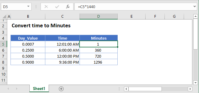 Convert time Minutes Main