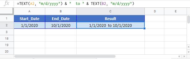 Create Date Range Google