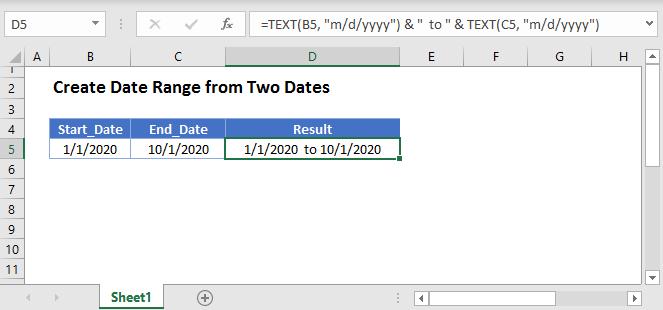 Create Date Range Main Function
