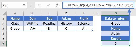 HLOOK Dynamic column