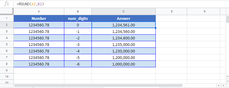 Round 10 100 1000 Formula Google