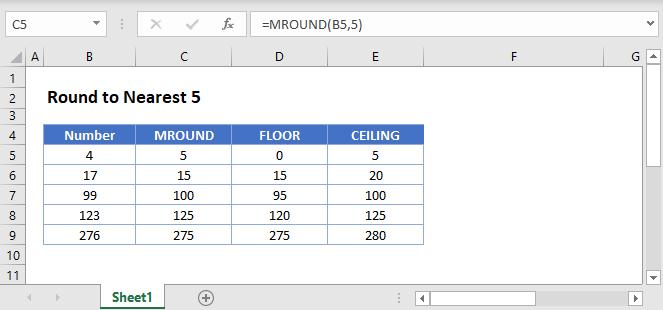 Round Nearest 5 main
