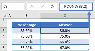 Round Percentages