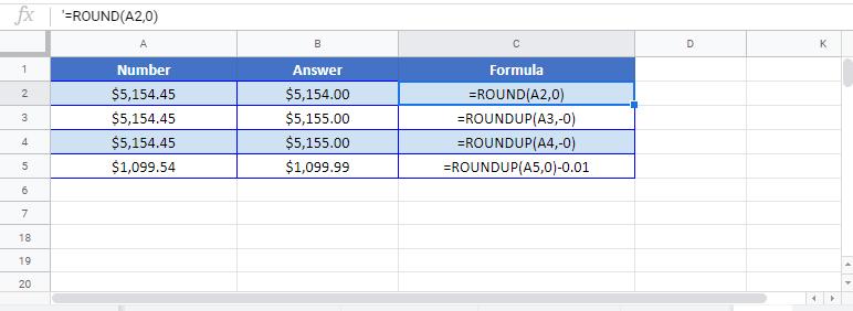 Round Price Formula Google