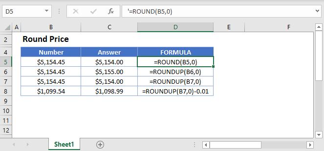 Round Price Formula Main