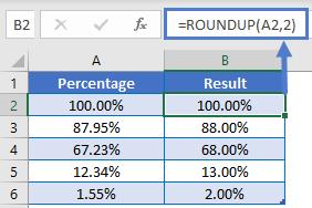 RoundUp Precentage