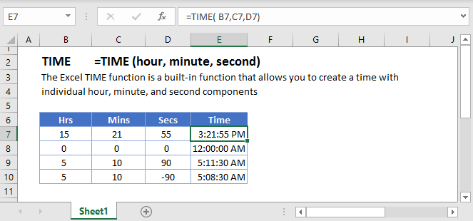 TIME Main Function