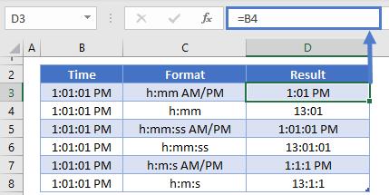 Time format result