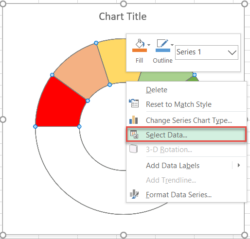Adding a data series to an excel chart