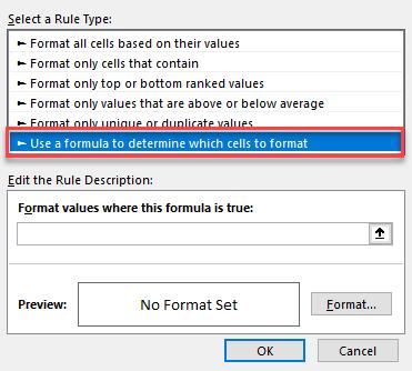 conditional format formula tool