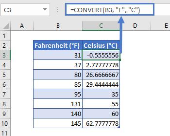 convert f to c