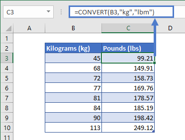 convert kg to lbs