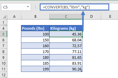 convert lbs to kg
