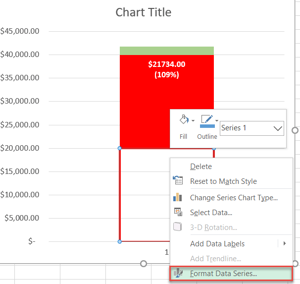Formatting data series in Excel
