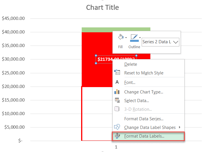 Formatting data labels in Excel