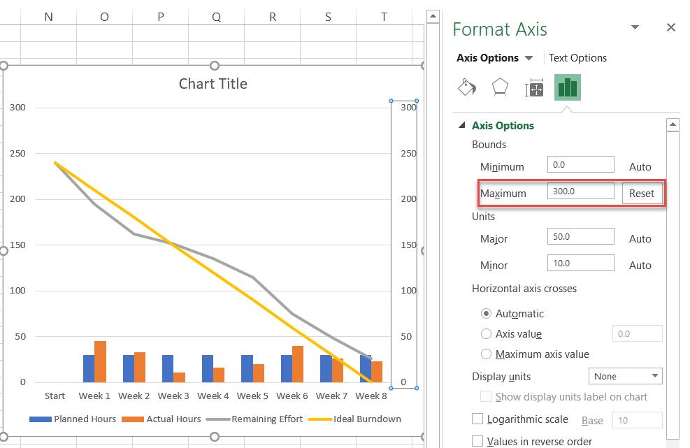 Set a custom Maximum Bounds value