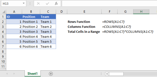 total cells in a range title