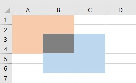 vba intersect selection