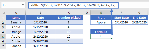 Multiple columns MAXIFS