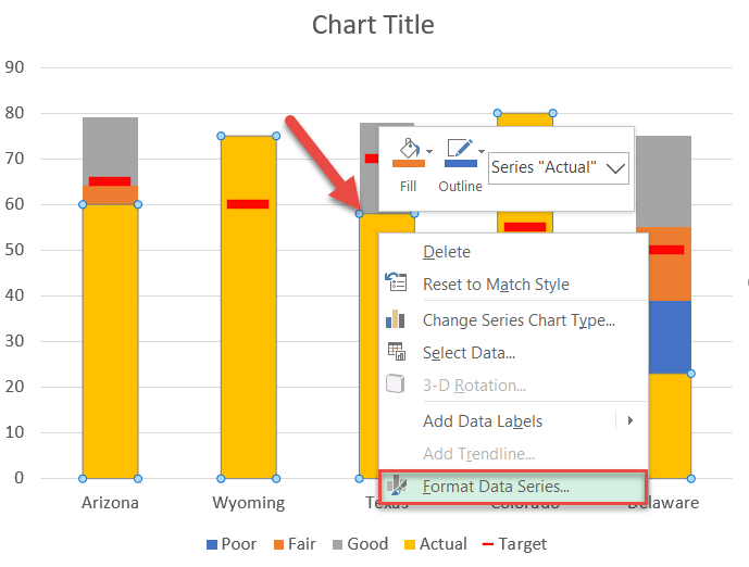"""Adjust the gap width for the """"Actual"""" columns"""