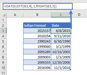 Reverse Conversion from Julian Format's Date to Date