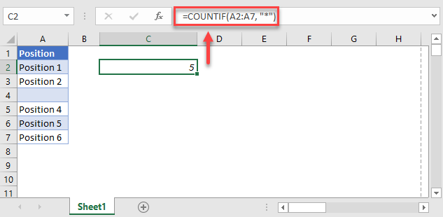 count non blank cells countif function