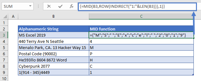 Remove Numbers from Text MID Function