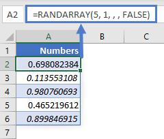 RANDARRAY EX 12