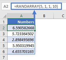 RANDARRAY EX 13