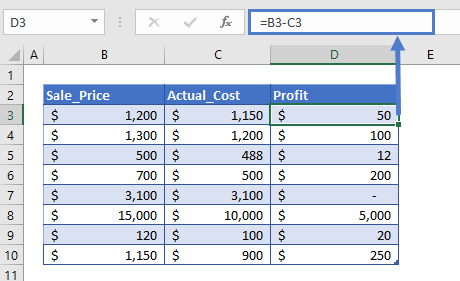 profit margin calculator step2