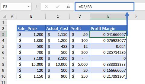 profit margin calculator step3