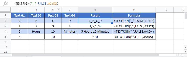 Textjoin G Function