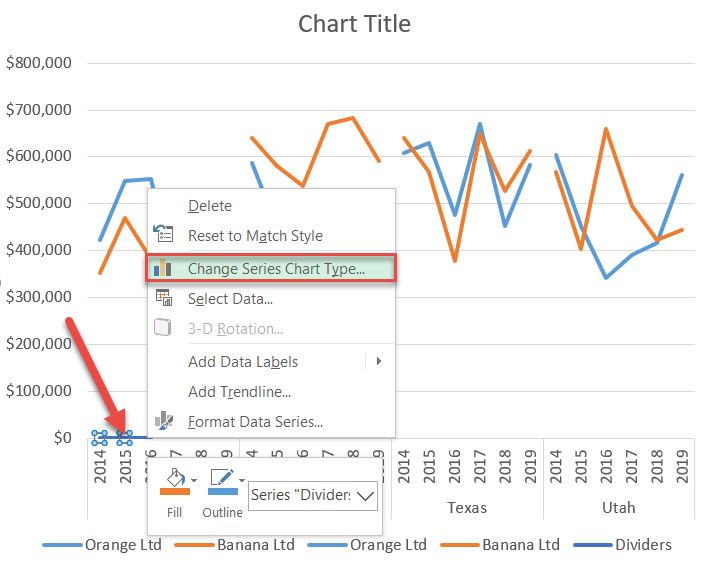 Change Series Chart Type