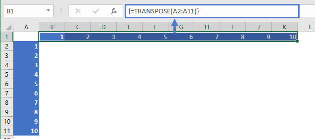 Multiplication Data Set Up By Transpose