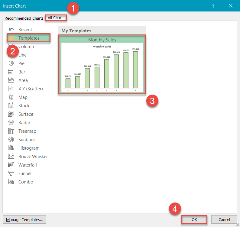 How to load a chart template