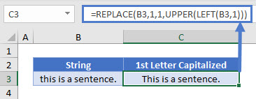 capitalize first letter proper