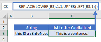 capitalize first letter UP Lower
